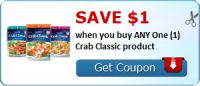 Save $1.00 when you buy ANY One (1) Crab Classic product : #Uncategorized Check it out here!!
