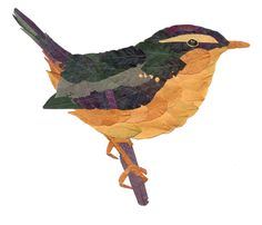 Fall art project. Bird made from leaves. This husband must be pretty awesome!