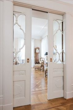Beautiful Inspiration for Den/Office pocket doors. Could be frosted glass or other to obscure view but let in light. The post Inspiration for Den/Office pocket doors. Could ..