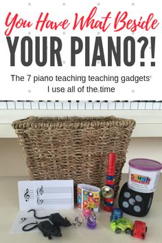 How do you use a rubber rat, play dough and a kazoo to teach piano? Find out the 8 piano teaching gadgets you'll find beside my piano. Piano Lessons For Kids, Kids Piano, Violin Lessons, Piano Teaching, Teaching Tools, Learning Piano, Teaching Ideas, Teaching Respect, Learning Time