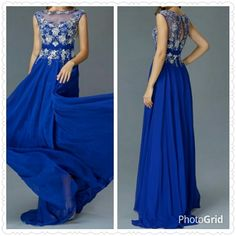 Beading Lace Chiffon Long Dress from The BEST OF BOTH WORLDS BOUTIQUE MONOGRAM AND GIFTS for $159.00