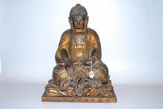 Sitzender Buddha Japan, nach 1900. Holz, vergoldet. : Lot 6121