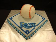 Tampa Bay Rays Cake for the groom!  Remember ladies...it's his day too!