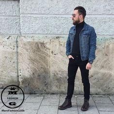 Check out @hoodsfashion  Love the denim jacket! By @mr_gentleguy  #mensfashion_guide #mensguide