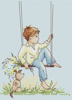 A Dreamer Illustrations by famous artist Ekaterina Babok are very popular for its unique and recognizable style. Only at crossstitchclub you can find her Learn Embroidery, Cross Stitch Embroidery, Embroidery Patterns, Cross Stitch Baby, Counted Cross Stitch Kits, Cross Stitch Designs, Cross Stitch Patterns, Bordados E Cia, Back Stitch