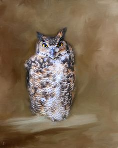 Great Horned Owl by Jai Johnson Great Horned Owl, Artistic Photography, Photo Galleries, Bird, Wall Art, Owls, Painting, Animals, Art Photography