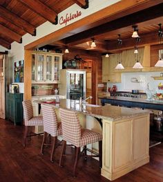 Canadian Home Kitchen with Island