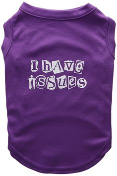 Mirage Pet Products 14-Inch I Have Issues Screen Printed Dog Shirts, Large, Purple ** Want additional info? Click on the image. (This is an affiliate link and I receive a commission for the sales) #DogLovers
