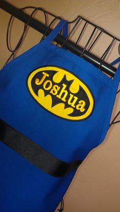 Batman Apron by babypaige- boys cooking aprons for Christmas!!!