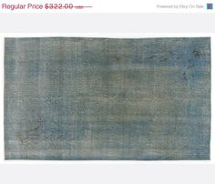 ON SALE 3,9 x 6,6 FT           Vintage Blue handmade faded-distressed overdyed rug Free shipping (5152)
