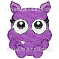 This free embroidery design from Cute Embroidery is a monster.