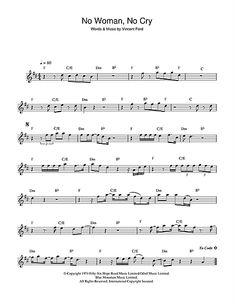 Bob Marley 'No Woman, No Cry' Sheet Music, Notes & Chords Bob Marley No Woman, No Cry Alto Saxophone sheet music notes, chords Accordion Sheet Music, Sheet Music With Letters, Sheet Music Direct, Sheet Music Notes, Alto Sax Sheet Music, Violin Sheet Music, Piano Music, Piano Keys, Saxophone Notes