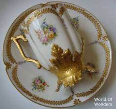 Limoges cup and saucer hand painted made ​​by Sheng Fri Kinsai