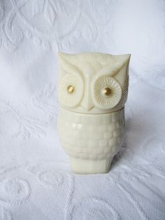 Owl Bottle Avon Perfume Bottle Vintage Owl by HerbgirlAndVintage.  I had this one.