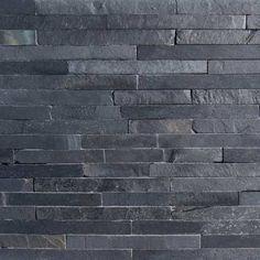 Black Slate Split Face Mosaic Tiles - Medium