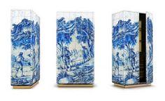 Tiles motif cabinet