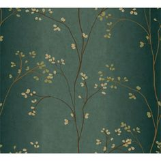 Buy the York Wallcoverings Teal / Bronze Metallic / Powder Green Direct. Shop for the York Wallcoverings Teal / Bronze Metallic / Powder Green Blue Book Vertical Blossoms Wallpaper and save. Gaston Y Daniela, Wallpaper Warehouse, Prepasted Wallpaper, Botanical Wallpaper, Green Floral Wallpaper, Green Powder, Asian Decor, Wallpaper Roll, Damask Wallpaper