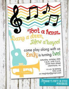 10 best baby jam music birthday party images on pinterest in 2018 music musical instruments invitation by meghilys on etsy 800 music theme birthdaymusic birthday partiesmusic filmwisefo