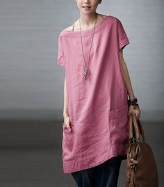 Totally Free Casual Linen Dress CustomMade Fast by zeniche