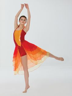 Girl on Fire | Revolution Dancewear Contemporary/Lyrical Dance Recital Costume