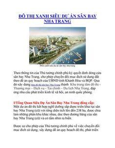 Đô thị xanh siêu dự án sân bay nha trang  Đô thị xanh siêu dự án sân bay nha trang - Hotline 093413673