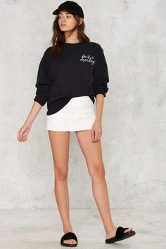 Private Party F*ck a Monday Sweatshirt | Shop Clothes at Nasty Gal!