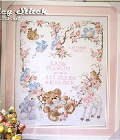 Newborn Announcement Birth Record Counted Cross Stitch Kit Embroidery Cartoon Bear Flowers DIY Gift For Baby Room Decoration 9 Jin http://www.amazon.com/dp/B00WKKG4AI/ref=cm_sw_r_pi_dp_bfBMvb0BGPY67