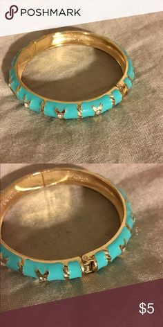 Blue and Gold Bangle Great condition! Jewelry Bracelets
