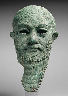 Head of a ruler, ca. 2300–2000 B.C. Iran or Mesopotamia. The Metropolitan Museum of Art, New York. Rogers Fund, 1947 (47.100.80)   This magnificent head portrays a king of the late third millennium B.C. #mustache #movember