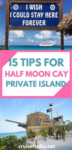 We have 15 tips to get the most out of your day when visiting Carnival Cruise Line's and Holland America Line's private island Half Moon Cay.