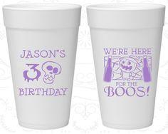 30th Birthday Styrofoam Cups, Pumpkin Birthday, Halloween Birthday, Birthday Foam Cups (20290)
