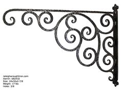 Our decorative iron brackets can be used to hang just about anything from a business sign to a flower pot.