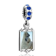 Pugster Blue Sapphire Swarovski Crystal Dangle Polar Bear Hug Photo Frame Bead Fits Pandora Charms Chamilia Biagi Bracelet Pugster. $16.49. Metal: Silver Tone. Color: Sapphire. Size (mm): 9.42*2.6*27.54. Weight (gram): 3.8
