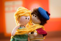 Rapunzel and Prince Charming - amigurumi pattern from the book 'Amigurumi Fairy Tales' - Design by Tessa Van Riet - Ernst