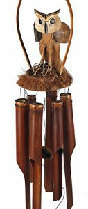 Extra Large Wind Chimes | extra large FAIR TRADE BAMBOO BARN OWL WOODEN WINDCHIME 100% NATURAL ...