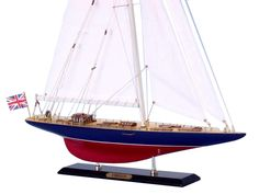 America's Cup Endeavour J Class Boat 20 Built Wooden Model Yacht Assembled Model Sailing Ships, Model Ships, Model Sailboats, Model Ship Kits, Sailboat Decor, Plywood Boat Plans, Wooden Ship, Yacht Boat, America's Cup