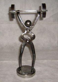 Le pape (clé anglaise et écrou) hauteur: 27 cm (vendu)