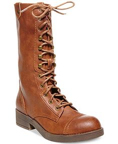 Madden Girl Motorrr Lace-Up Combat Boots - Boots - Shoes - Macy's ($89)