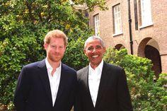 Prince Harry hosted President Obama at Kensington Palace, 5-27-17