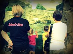 Grandmothers with their grandkids, my mom and aunt at the zoo with my son and cousin @Susan Starnes @Jeanne Starnes