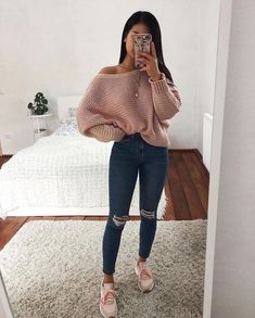 teenager outfits for school ; teenager outfits for school cute Cute Outfits For School, Cute Casual Outfits, Simple Outfits, Outfits For Teens, Stylish Outfits, Trendy Fall Outfits, Comfy Teen Outfits, Casual Outfits For Winter, Trendy Teen Fashion
