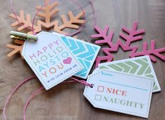 Gift Tags created by Debby Hughes using Simon Says Stamp Exclusives.  November 2013