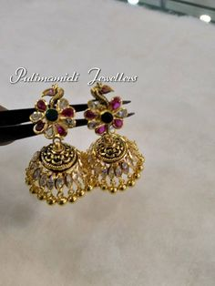 Light Weight Gold Jhumkas from Pulimamidi Jewellers www.addiga.com
