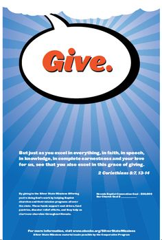 """Nevada Baptist Convention  - God Print Campaign - """"Give"""""""