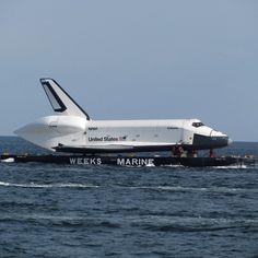 Space Shuttle Enterprise off Coney Island yesterday #spottheshuttle - @jeffreynyc