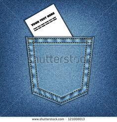 Jeans pocket. Background of Denim texture, vector eps10