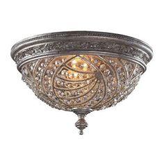 ELK Lighting 6232-4 Renaissance 4 Light Flushmount In Sunset Silver