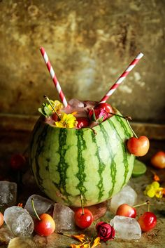 Watermelon Cherry Tequila Bomb from HeatherChristo.com