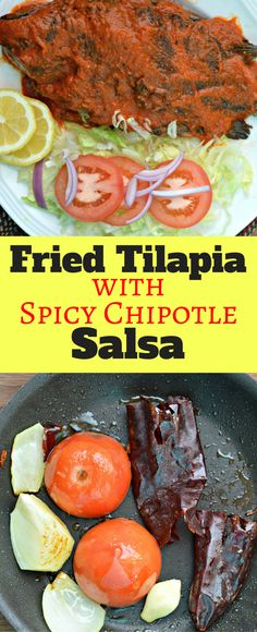 This Fried Tilapia with Spicy Chipotle Salsa is a perfect option for any time of year - especially if you love seafood like we do! #VivaLaMorena #Ad