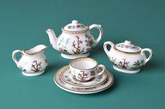 Miniature tea set Coalport Indian Tree